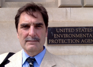 Ken Ward outside the Environmental Protection Agency
